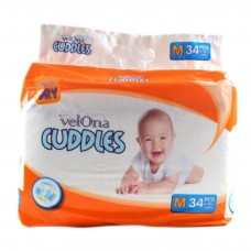 VELONA CUDDLES SUPER DRY MEDIUM 34 PCS