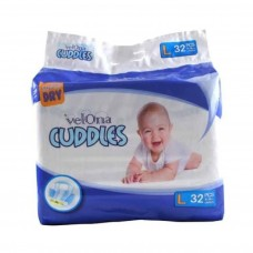 VELONA CUDDLES SUPER DRY LARGE 32 PCS