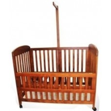 TREATED RUBBER WOOD COT (S)