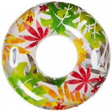 INTEX GROOVY COLOR INFLATABLE FLOWER TRANSPARENT TUBE RAFT