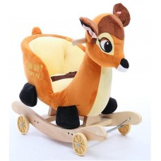 DEER ROCKING ANIMAL SOFT TODDLER - BROWN
