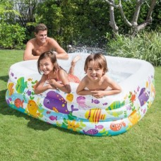 INTEX SWIM CENTER CLEAR VIEW AQUARIUM INFLATABLE POOL