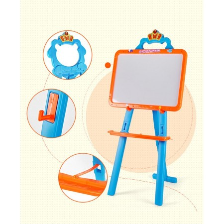 Little Painter Learning Magnetic Board, White/Chalk Board