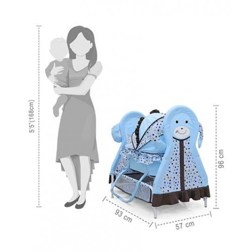 Cradle With Mosquito Net and Swing Lock function