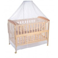 BABYDE Baby Wooden Cot with Swing & Mosquito Net
