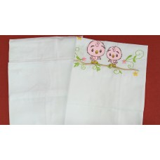 2 ROLLER PILLOW CASE-( BANKOK MUSLIN)