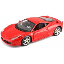 Bburago 1:24 Scale Ferrari Race and Play 458 Italia Diecast
