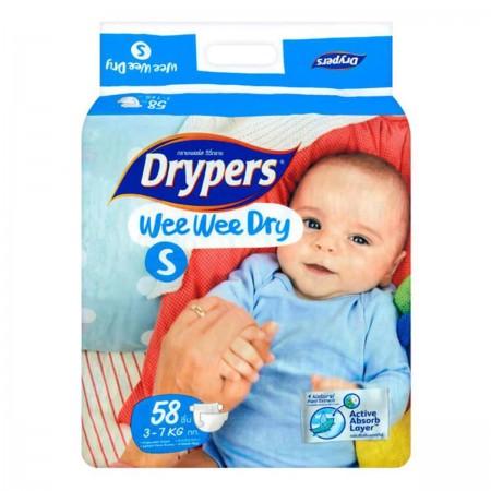 DRYPERS WEE WEE DRY S 58 PCS
