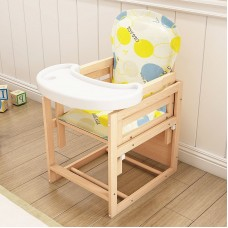 PINE WOODEN BABY HIGH CHAIR