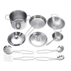 10-Piece Metal Cookware Play Set