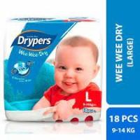 Drypers wee wee dry large 18pcs