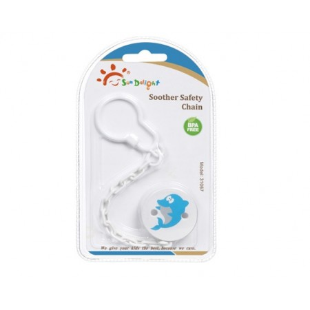 SUN DELIGHT SILICON SOOTHER & SAFETY CHAIN
