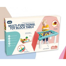 Multi-Functional Toy Block Table with Building Blocks for Kids