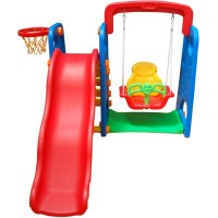 SLIDE & SWING & BASKETBALL HOOP