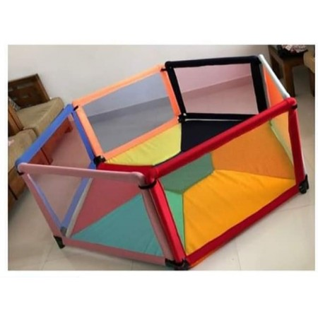 6 PANEL PLAY PEN WITH MATTRESS