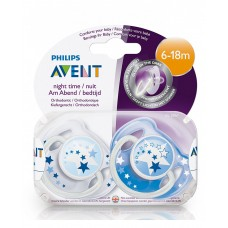 PHILIPS AVENT NATURAL NIGHT TIME PACIDIERS