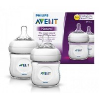 PHILIPS AVENT NATURAL 0M+ 2 FEEDING BOTTLES