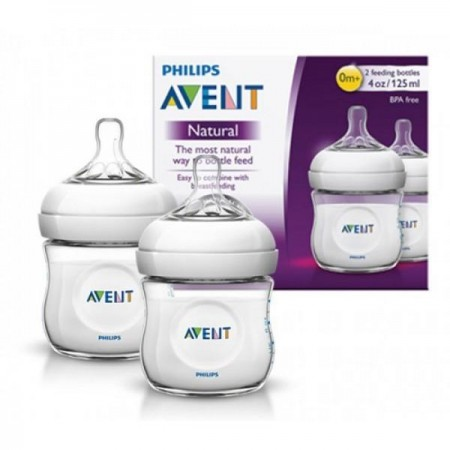 PHILIPS AVENT NATURAL 0M+ 125ml / 4oz 2 bottle