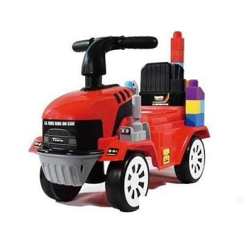 KIDS RIDE ON TRACTOR WITH BLOCK