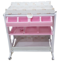 BABY NAPPY CHANGING TABLE WITH BATH TUB
