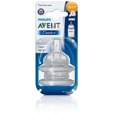 PHILIPS AVENT CLASSIC+ 6M+ SILICON TEATS