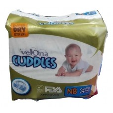 VELONA CUDDLES SUPER DRY NEW BORN 24 PCS