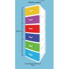 6 Tier Plastic Drawer