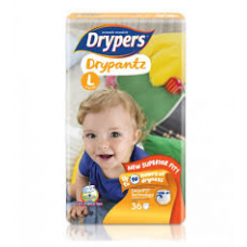DRYPERS DRYPANTZ LARGE 36PCS