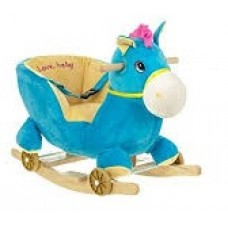 HORSE ROCKING ANIMAL SOFT TODDLER - BLUE