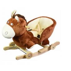 HORSE ROCKING ANIMAL SOFT TODDLER - BROWN